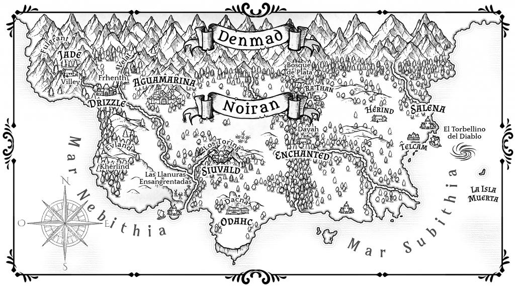 Mapa de Noiran - Tári Anárion Las Pruebas de la Lealtad