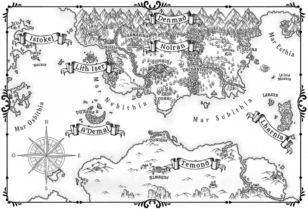 Tári Anárion - La Voz del Silencio - Mapa de las regiones